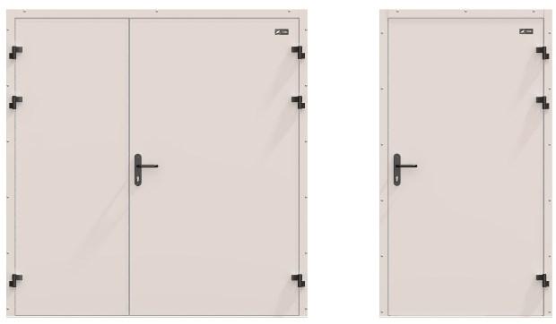 промышленные железные двери с вентиляцией