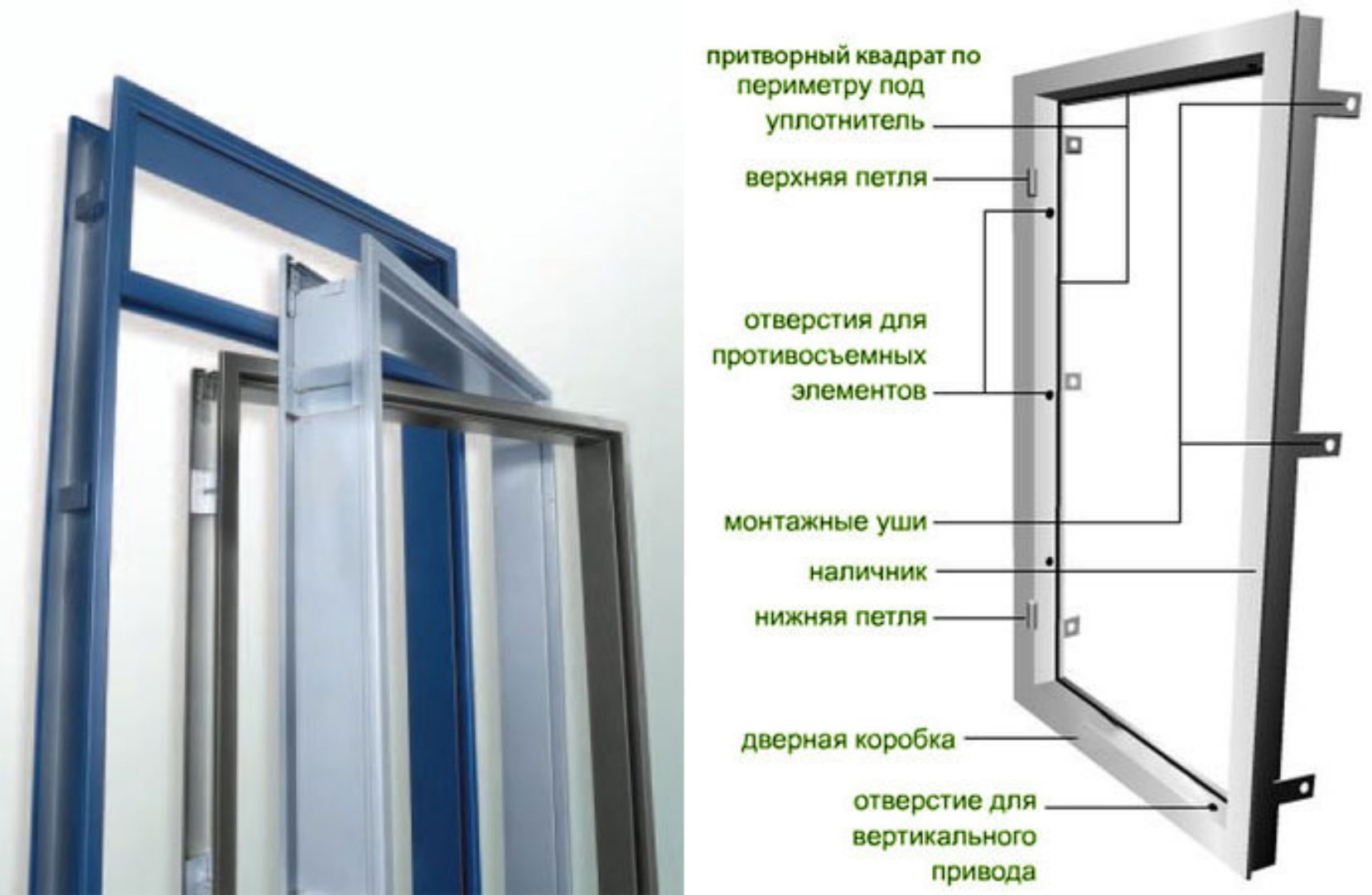 железные двери из профиля