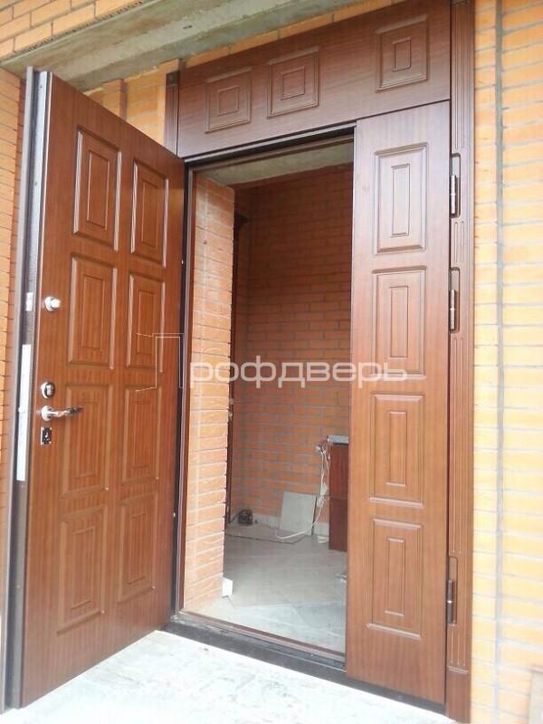 входная глухая распашная дверь