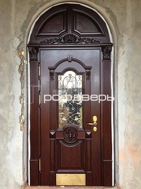 арочные элитные входные двери