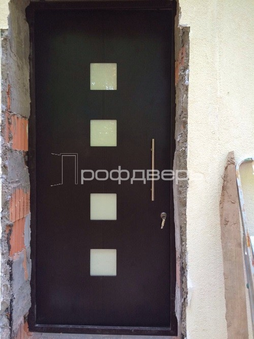 входная дверь с вставками