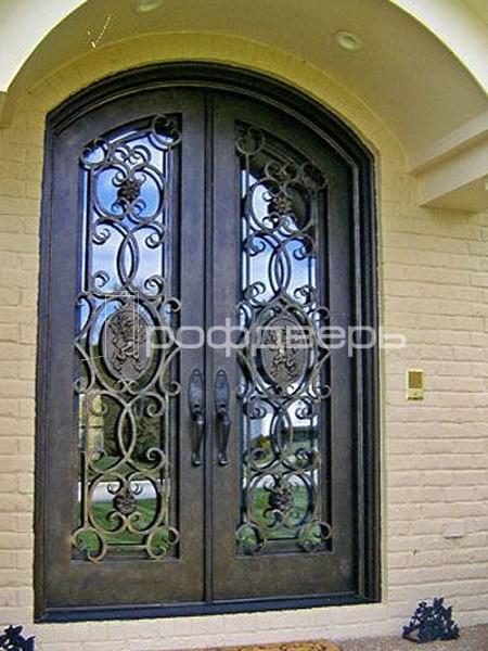 двери металлические входные двустворчатые с ковкой в москве