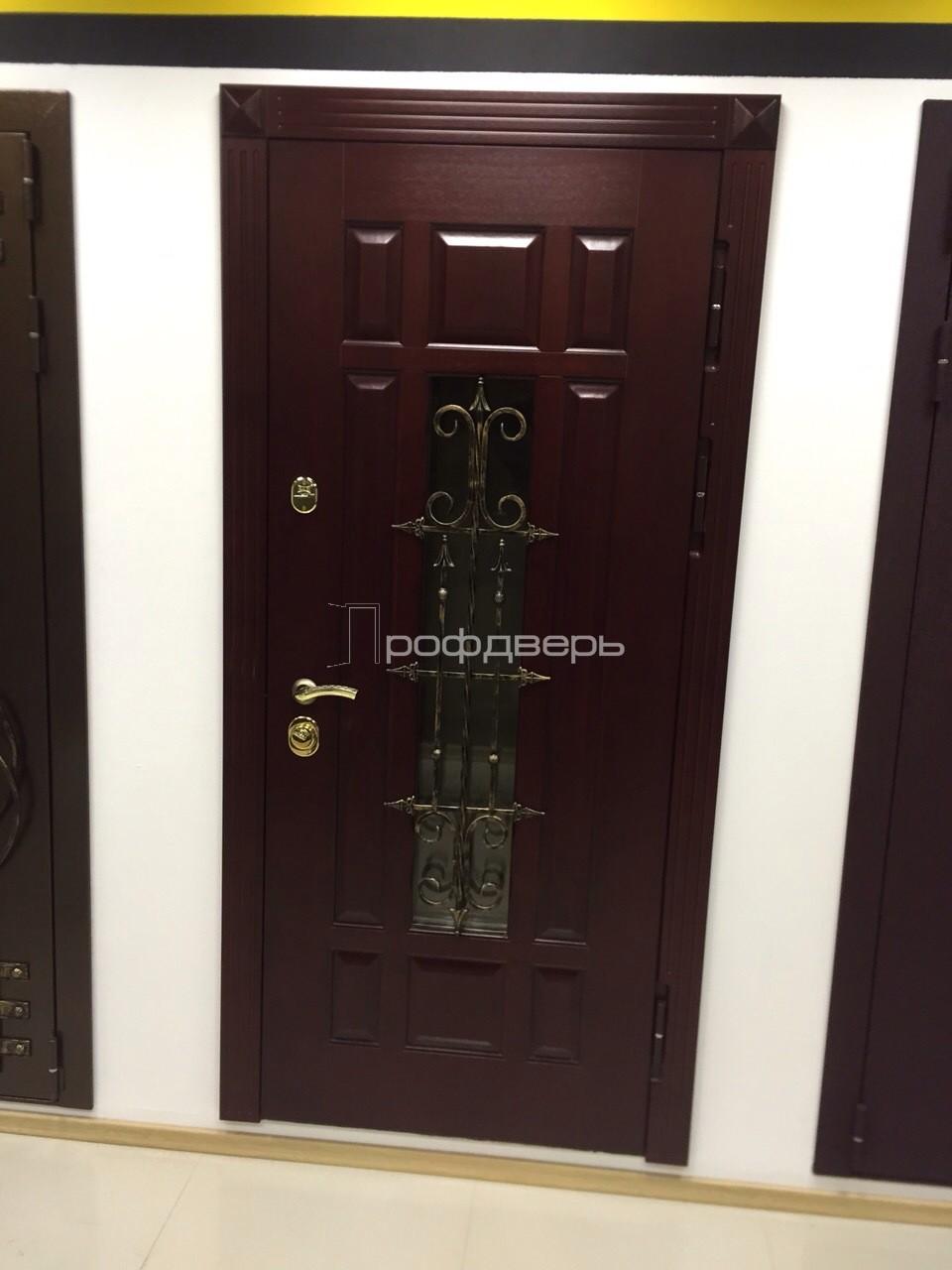 стальные уличные двери с ковкой и стеклом цена
