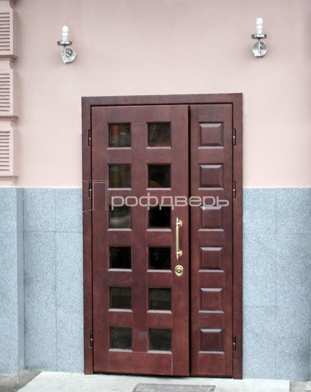 дверь в офис двухстворчатая стальная