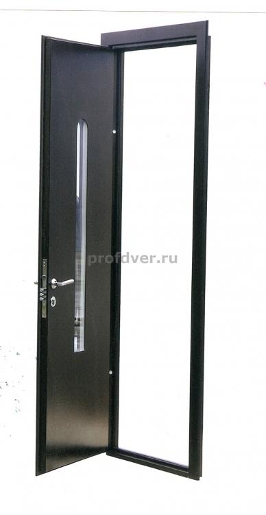 зеркальные вставки в металлической двери