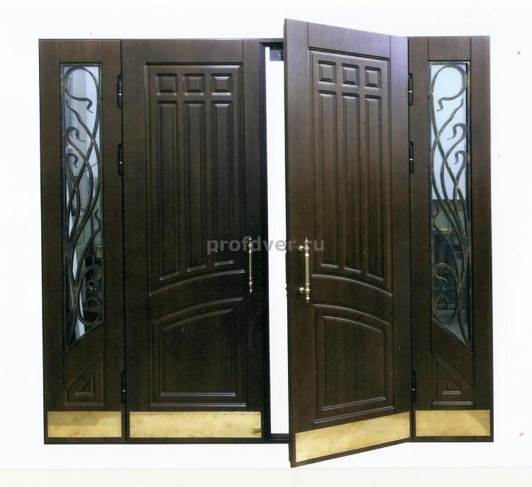 стальные тамбурные двухстворчатые двери