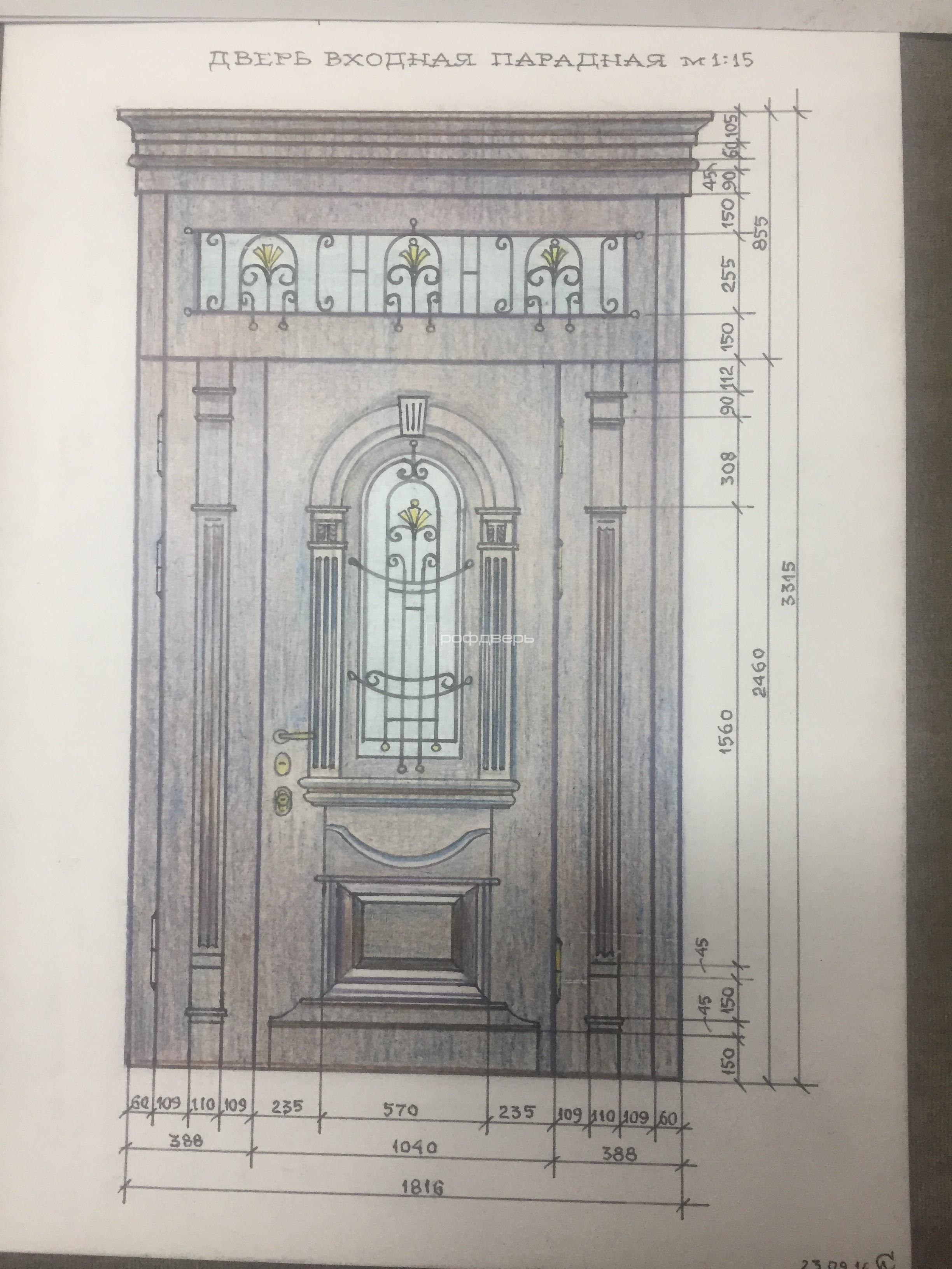 металлические двери проекты