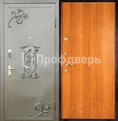 двери входные железные порошковое напыление с ковкой