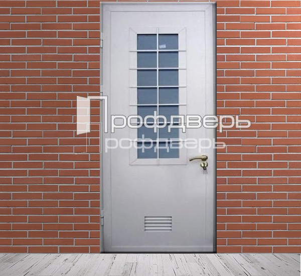 металлическая дверь со стеклом для котельной
