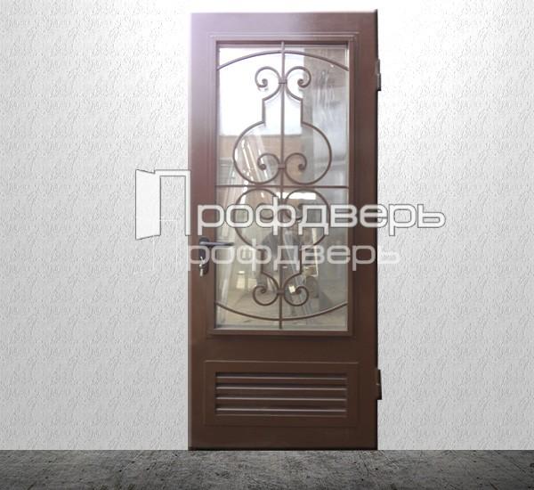 металлическая дверь со стеклом в котельную
