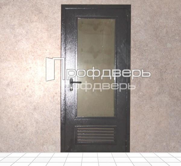 металлическая дверь с остеклением для котельной