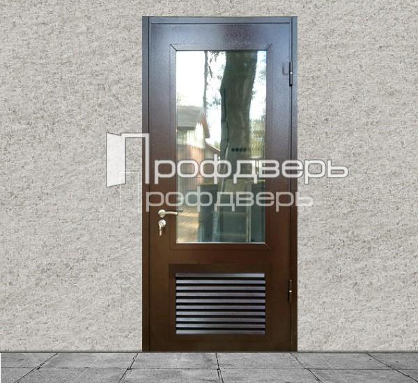 входная дверь для бойлерной со стеклом