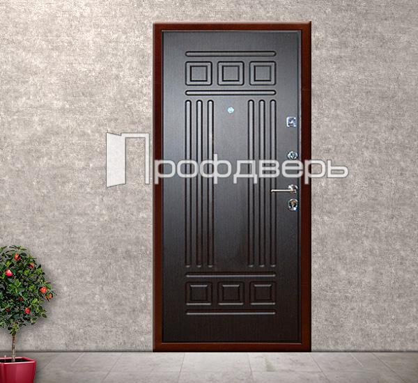 стальные двери коричневые