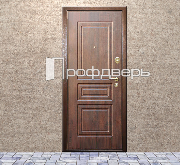 дверь входная цвет красное дерево