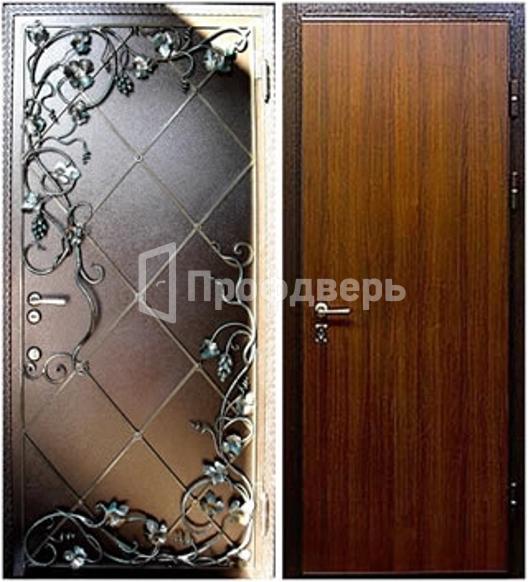 современный орнамент металлических дверей