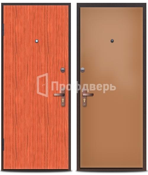 железная дверь с облицовкой