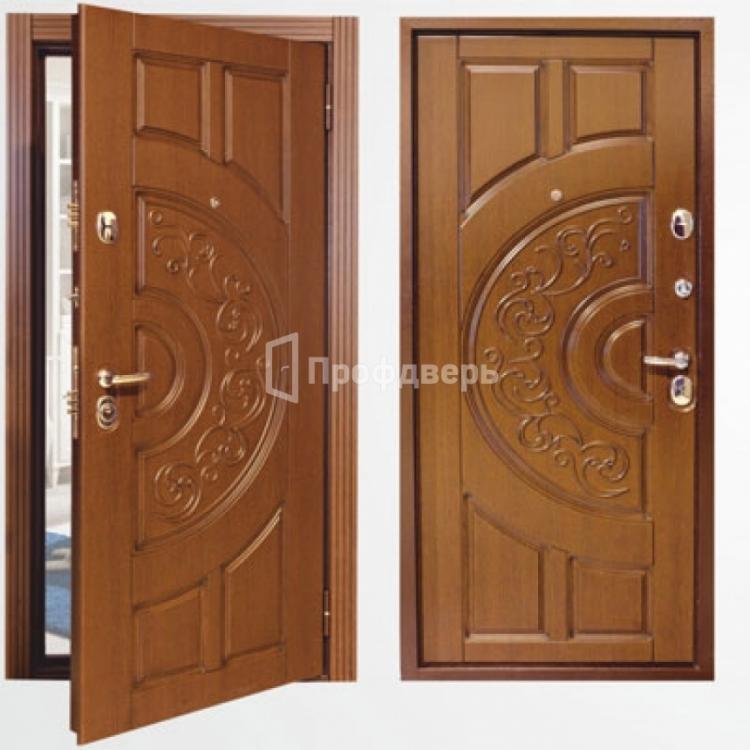 недорогие стальные двери с отделкой мдф