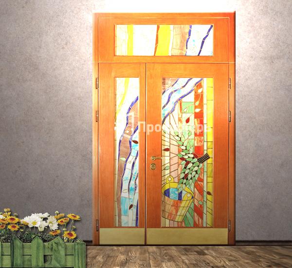 парадные металлические двери в коттедж