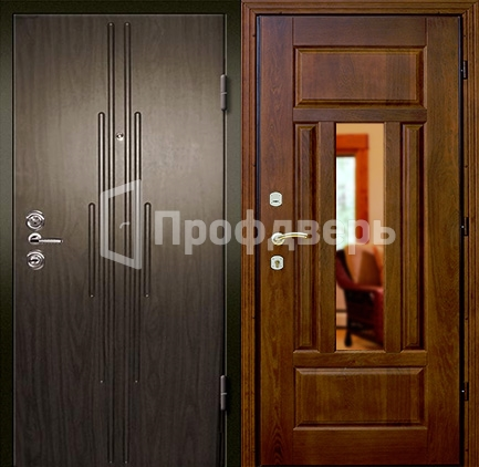 стальные двери с зеркалом купить в москве