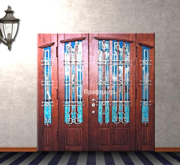 эксклюзивные металические входные двери в котедж