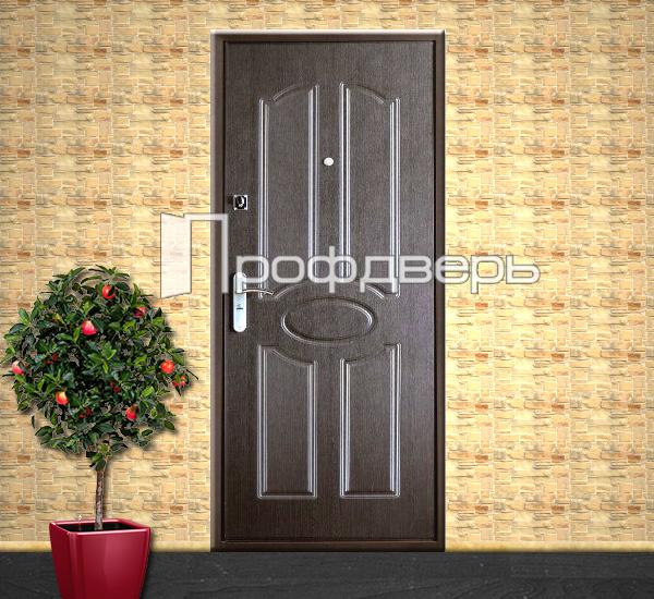 простые железные двери на дачу