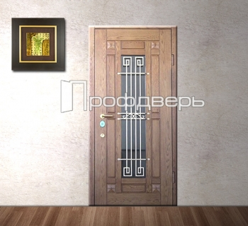 входные двери для загородного дома с зеркалом