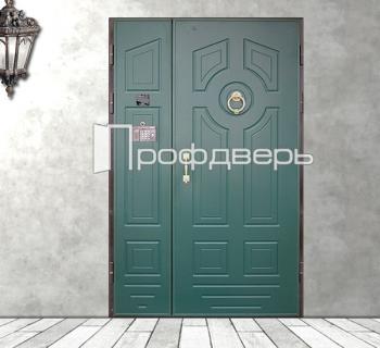 двустворчатые железные двери для подъездов