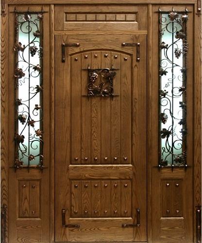 входные двери со вставками из массива
