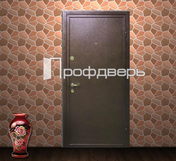 дверь уличная металлическая красная с порошковым окрасом