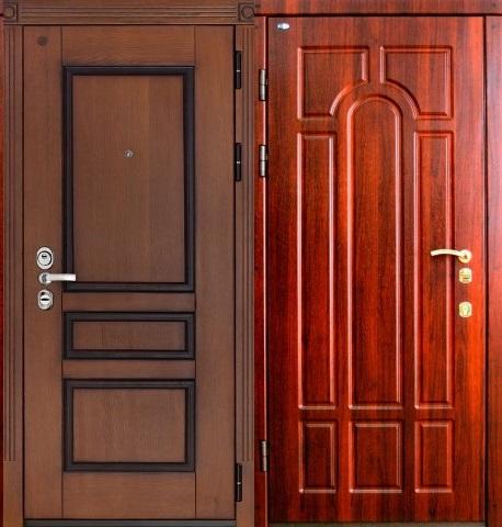 металлические двери с филёнками